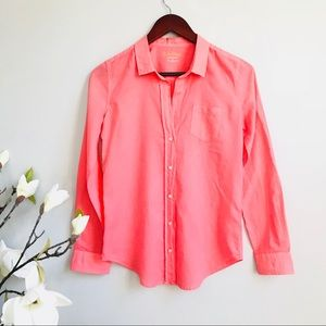 Lilly Pulitzer coral pink button down shirt